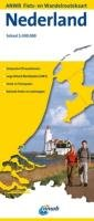 Netherlands Cycling and Hiking Routes Map (ANWB Nederland Fiets- en Wandelroutekaart)