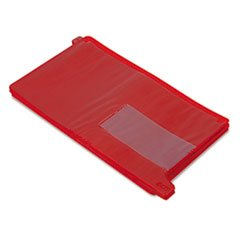 End Tab Out Guides with Pockets, Poly, Legal, Red, 25/Box by 4COU