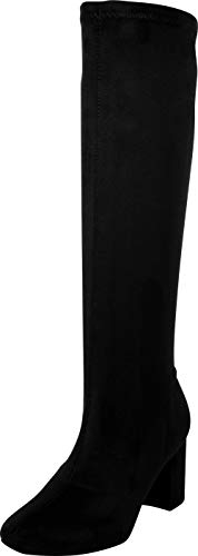 Zip Womens Boots Dress (Cambridge Select Women's Classic Chunky Block Knee-High Boot,8.5 B(M) US,Black IMSU)