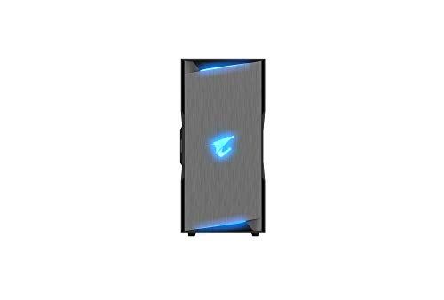AORUS C300 Glass ATX Gaming Case, Tinted Tempered Glass, RGB Fusion 2 0,  Upgraded I/O Panel with USB 3 1 Gen 2 Type C and HDMI, VR Ready,  Watercooling