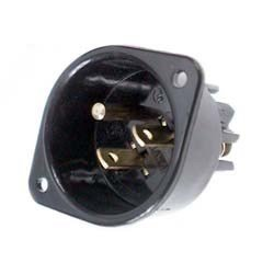 Leviton 001-5239 Commercial Grade Straight Blade Flanged Inlet Receptacle by Leviton