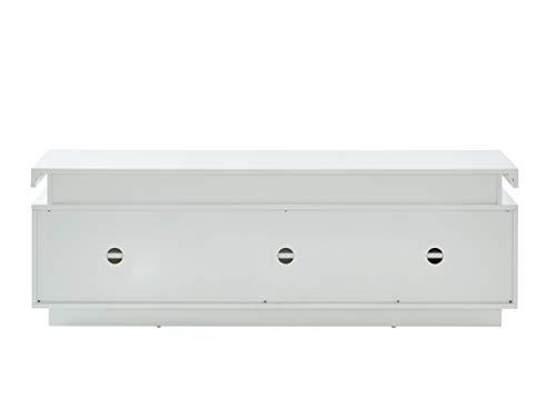 BAÏTA ULYSSE Table Basse, Blanc laqué Brillant, 150cm