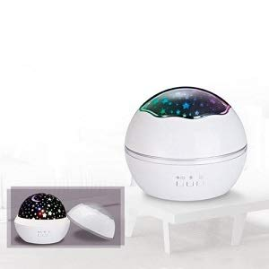Virwir Kids Star Night Light for Bedroom 360 Degree Rotation Nursery Night Lamp Projector White with Replace Lamp Film Colourful Stars Moon Sea Animal Best Gift for Baby Girls Boys