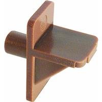 Slide-Co 241945 Shelf Support Peg, 1/4-Inch, Brown Plastic,(Pack of 12) (Shelf Supports Cabinet)
