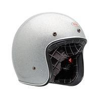 Bell Custom 500 Metal Flake Helmet (LARGE) (SILVER)