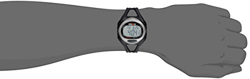 Timex Men's T54281 Ironman Sleek 50 Full-Size Black/Silver-Tone Resin Strap Watch