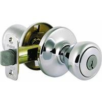 Kwikset Mobile Home Entry Knob in Satin Chrome