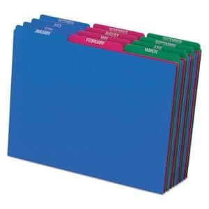 Tops Business Forms Pendaflex Top Tab File Guides, Monthly, 1/3 Tab, Polypropylene, Letter, 12/Set (1 Set)