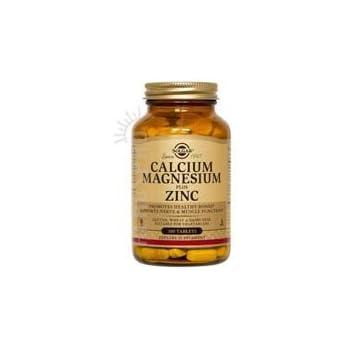 Solgar Calcium Magnesium Plus Zinc Tablets, 250 Count (Pack of 3)