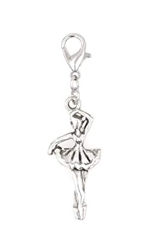 It's All About...You! Ballerina Dancer Clip on Charm Perfect for Necklaces and Bracelets 103E