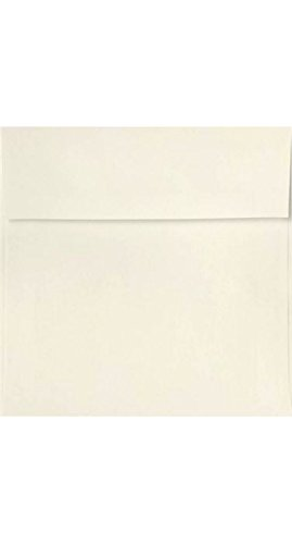 6 1/2 x 6 1/2 Square Invitation Envelopes w/Peel & Press - Natural (50 Qty.)
