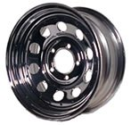 14 x 6 Chrome Modular Trailer Wheel with Rivets, 5 on 4.50