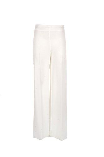 L'ALTRA MODA Pantalone Donna 40 Bianco 3rosco Primavera Estate 2017
