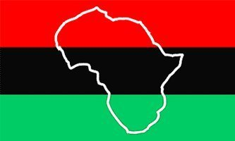 3'x5' AFRICA OUTLINE FLAG, map african american, african-american banner, afro-american, afro american, africa negro black heritage