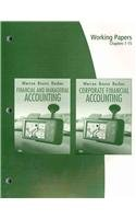 Working Papers, Chapters 1-15 for Warren/Reeve/Duchac's Corporate Financial Accounting, 10th and Financial & Manager