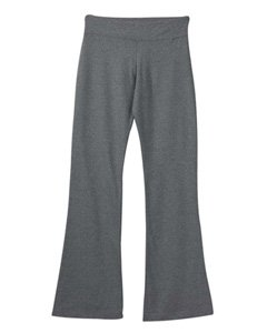 DCS Cotton Spandex Full Length Dance Workout Pant (Large, Deep Heather)