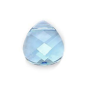 SWAROVSKI ELEMENTS Flat Crystal Briolette Beads #6012 15x14mm Aquamarine ()