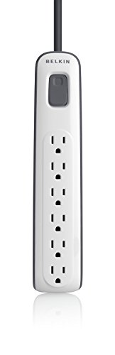 6-outlet Surge Protector with 4ft Power Cord