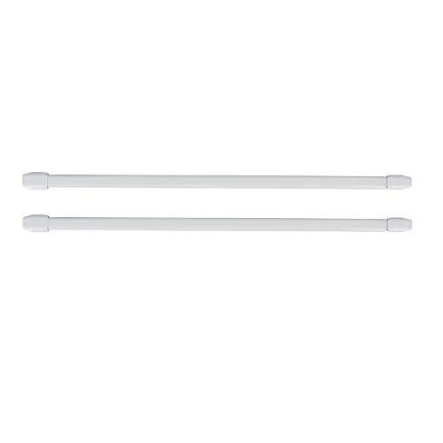 "EVIDECO L52004001 White Adjustable Flat Sash Rod 16"" to 24"" Set of 2, 01 Blanc"