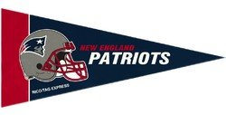 NFL New England Patriots Pennant Mini 8 Piece, One Size, Team Colors -