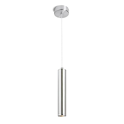 HomeFocus LED Pendant Lamp Light,Dinning Pendant Lamp Light,Hang Lamp Light,Bar Pendant Lamp Light,Kitchen Pendant Light,LED 5W 3000K Included,Metal,Satin Nickel. (Led Pendant Lamps)
