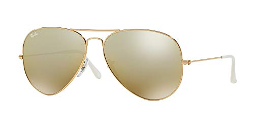Ray Ban RB3025 AVIATOR LARGE METAL 001/3K 58M Gold/Brown Mirror Silver Gradient Sunglasses For Men For ()