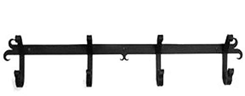 Iron Coat Rack-Towel Rack Bar Plain - 24' Heavy Duty Metal Coat Hooks - Hat Rack, Coat Rail Or Garmet Rack