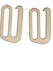 Swimsuit Bra Hooks - Nylon Coated Metal - Beige - 1