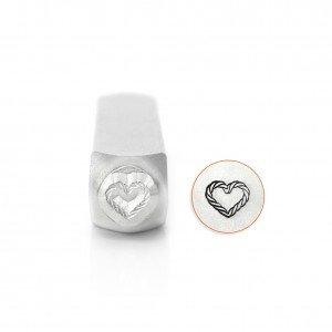 ImpressArt Heart Rope Design Stamp, 6mm SC158-AC-6mm