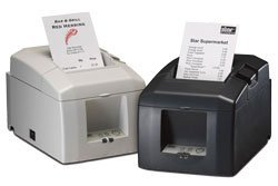 (Star Micronics 39448610 Model TSP654U-24 Gry Thermal Printer, Friction, Cutter, USB, Without Power Supply, Gray)
