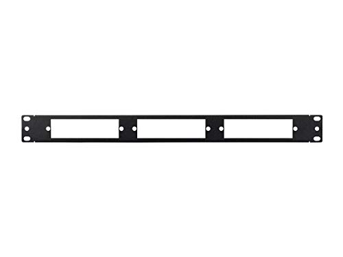 Monoprice Blank Fiber Patch Panel - 19 Inch | 3Lgx Cassettes 1U, 16 Gauge Steel ()