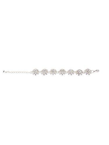 75f5bf225 Ted Baker Seah Crystal Daisy Lace Bracelet TBJ1581-01-02  Amazon.co.uk   Jewellery