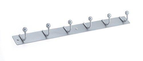 Nystrom 16925BAG Utility Hook Rack, Brushed Aluminum Finish
