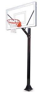 最初チームスポーツselect-bp steel-acrylic in ground固定高さバスケットボールsystem44 ;オレンジ B01HC0DKZM