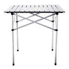 Outdoor Dining Table Foldable,Square,Silver