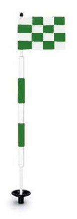 Tournament Jr. Flagstick Practice Green Marker / Checkered Flag Sets (Green) - Set of 9 by Par Aide (Image #1)
