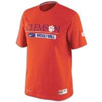 NIKE NCAA Clemson Tigers 2012 Team Issued Elite Performance Practice T-Shirt - Orange (Medium)