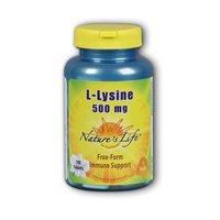 L-Lysine 500mg Nature's Life 50 Caps