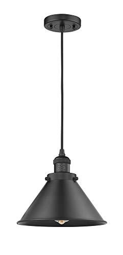 (Innovations 201C-BK-M10-BK 1 Light Mini Pendant Matte Black)