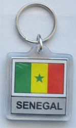 Senegal - Country Lucite Key Ring (Lucite Rings Band)