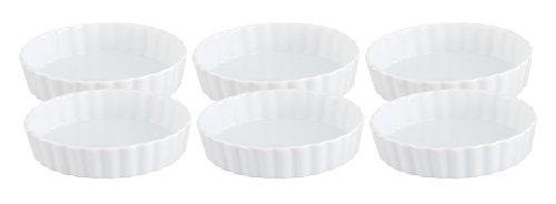 Fine White Porcelain (HIC Round Creme Brulee, Fine White Porcelain, 5 x 1-Inch, Set of 6)