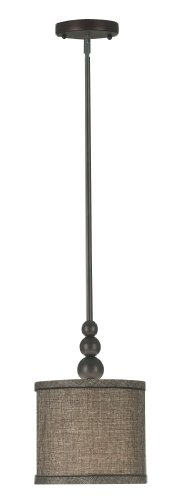 Kenroy Home 91641ORB  Margot 1-Light Mini Pendant, Blackened Oil Rubbed Bronze