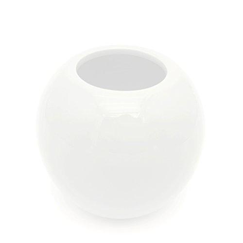 Ceramic Artificial Vases (YOSOU HOME Decorative Round Ceramic Artificial flower Flower Display Pot/Vase-White,Red,Orange,Gray,Black,Blue,Yellow,Blue,Green (White))