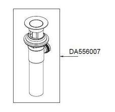 "Danze DA556007BN 1 1/2"" Metal Pop-Up Drain Assembly with Lift Rod & Overflow Faucet Parts BN"