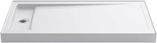 KOHLER K-9165-0 Bellwether 60-Inch X 32-Inch Single-Threshold Shower Base with Left Offset Drain, White