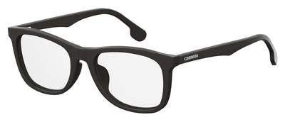 Carrera Plastic Rectangular Eyeglasses 55 0003 Matte Black - Matte 0003 Eyeglasses Black