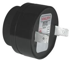 Transducer, Alarm, Continuous, 6 VDC, 28 VDC, 23 mA, 90 dBA by Mallory