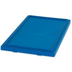 Stack & Nest Lids, 16'' x 10'' Blue - [PRICE is per CASE] by Box Partners