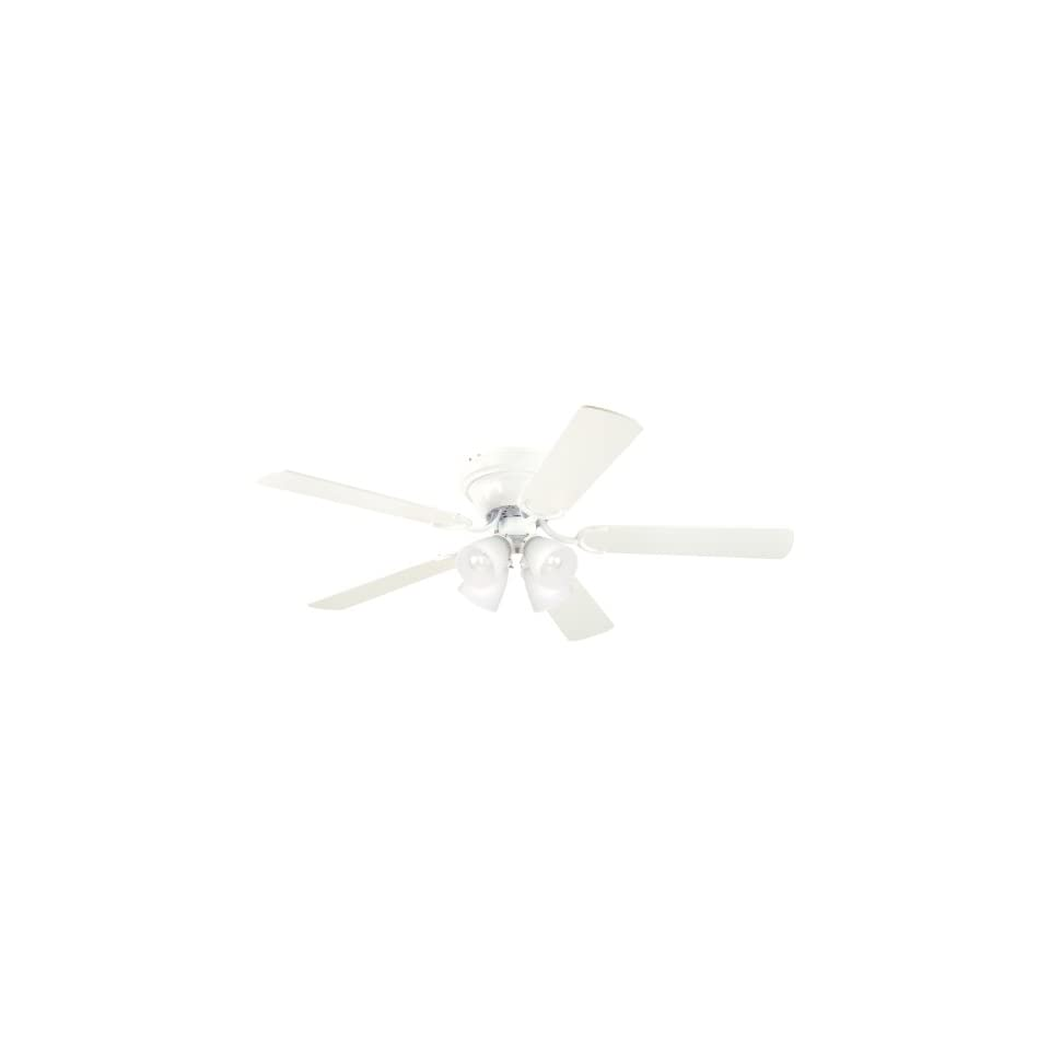 Westinghouse 7871500 Contempra IV Four Light 52 Inch Five Blade Indoor Ceiling Fan, White with Frosted Ribbed Glass Shades