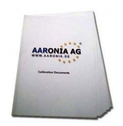 Aaronia RF Spectrum Analyzers Calibration Certificate